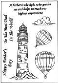 Sue Dix - Lighthouse and Balloon – Clear Stamp - PICSA6196